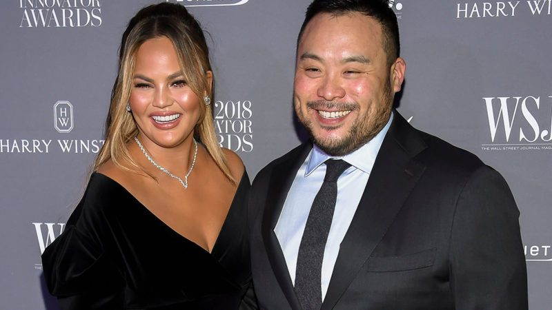 Chrissy Teigen, David Chang. Model Chrissy Teigen, left, and chef David Chang pose together at the WSJ Magazine 2018 Innovator Awards at the Museum of Modern Art, in New York