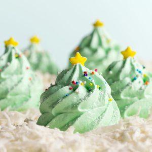 Festive Meringue Christmas Trees