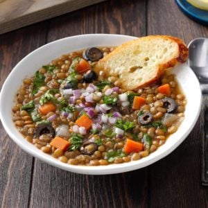 Pressure-Cooker Greek-Style Lentil Soup