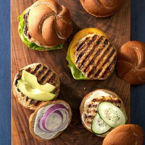 Grilled Chicken Ranch Burgers