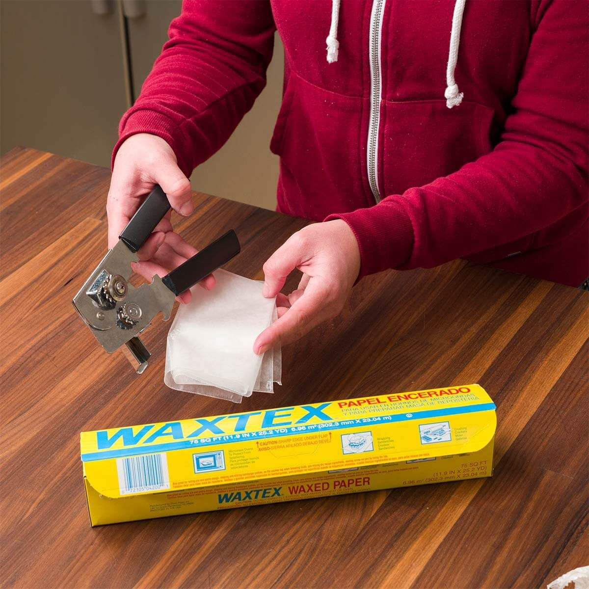 Clean a Can Opener with Wax Paper