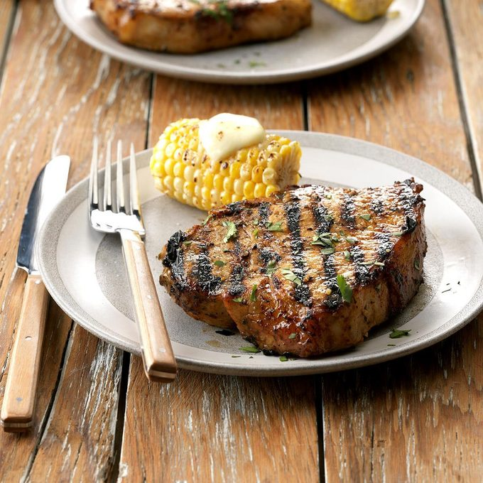 Lime and Garlic Grilled Pork Chops