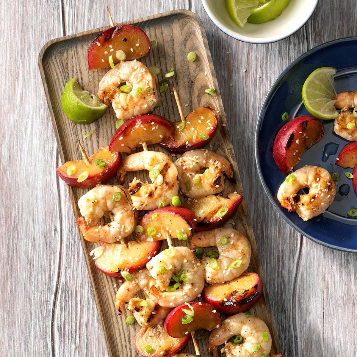 Grilled Ginger Shrimp with Plums