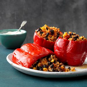 Pressure-Cooker Stuffed Peppers
