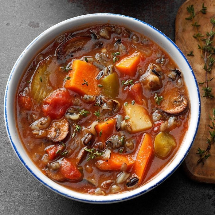 Pressure-Cooker Vegetable Wild Rice Soup