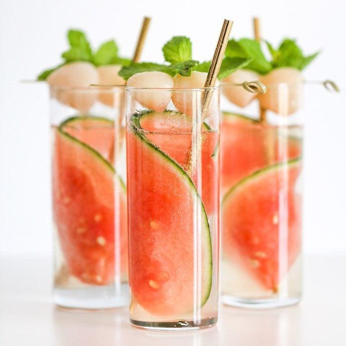 Sparkling Watermelon Lychee Cocktail
