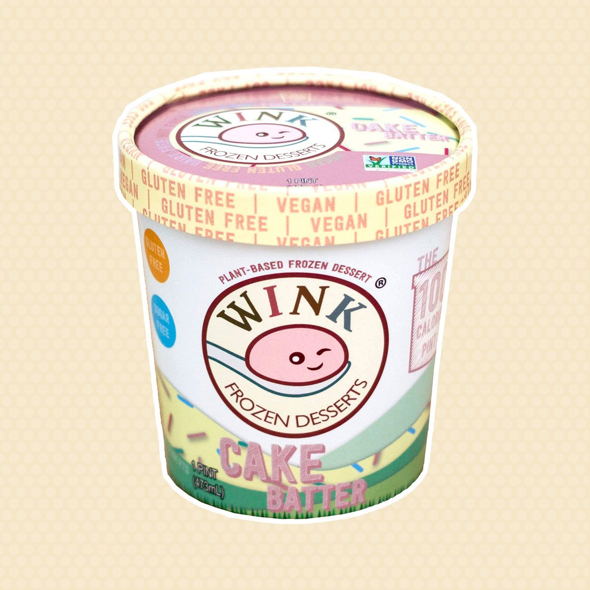 Wink cake batter ice cream tub