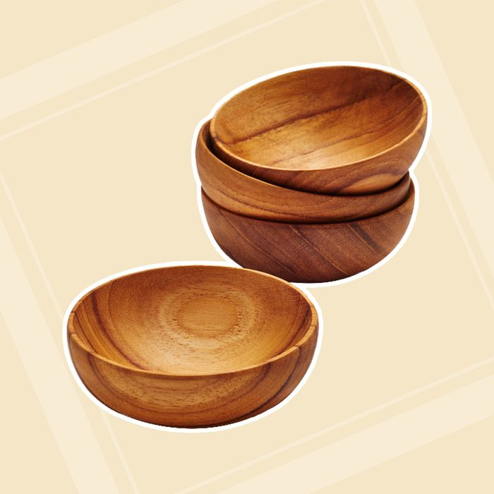 Teak Pinch Bowls