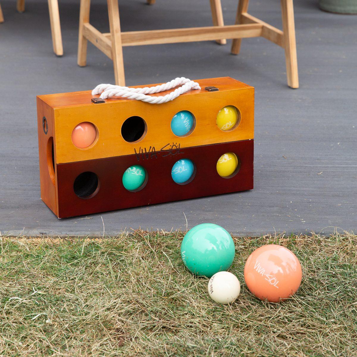 Bocce ball set at the Shed