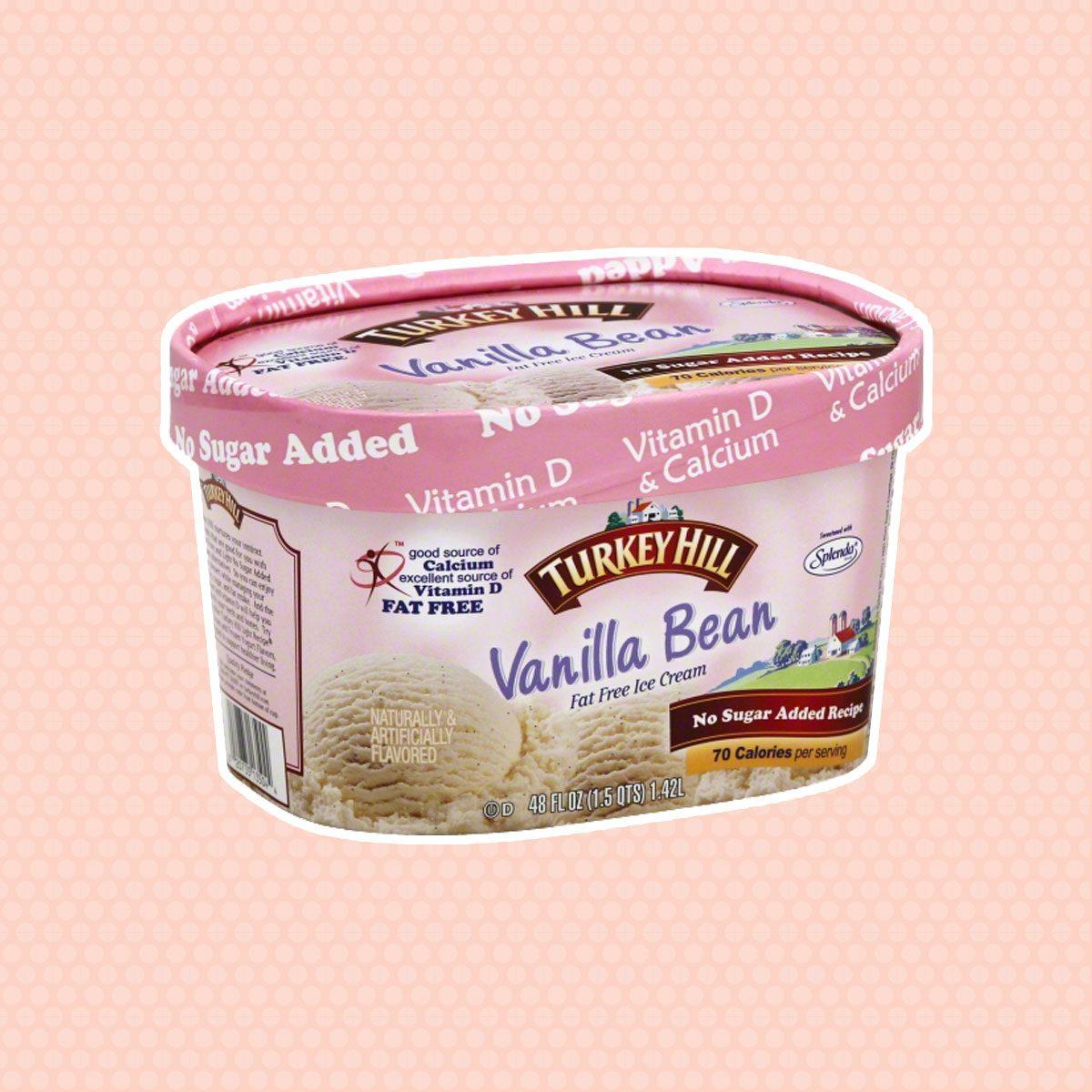 Turkey Hill Vanilla Bean Fat Free No Sugar Added Recipe Ice Cream 48 fl. oz. Tub