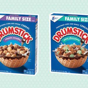 Drumstick cereal treat