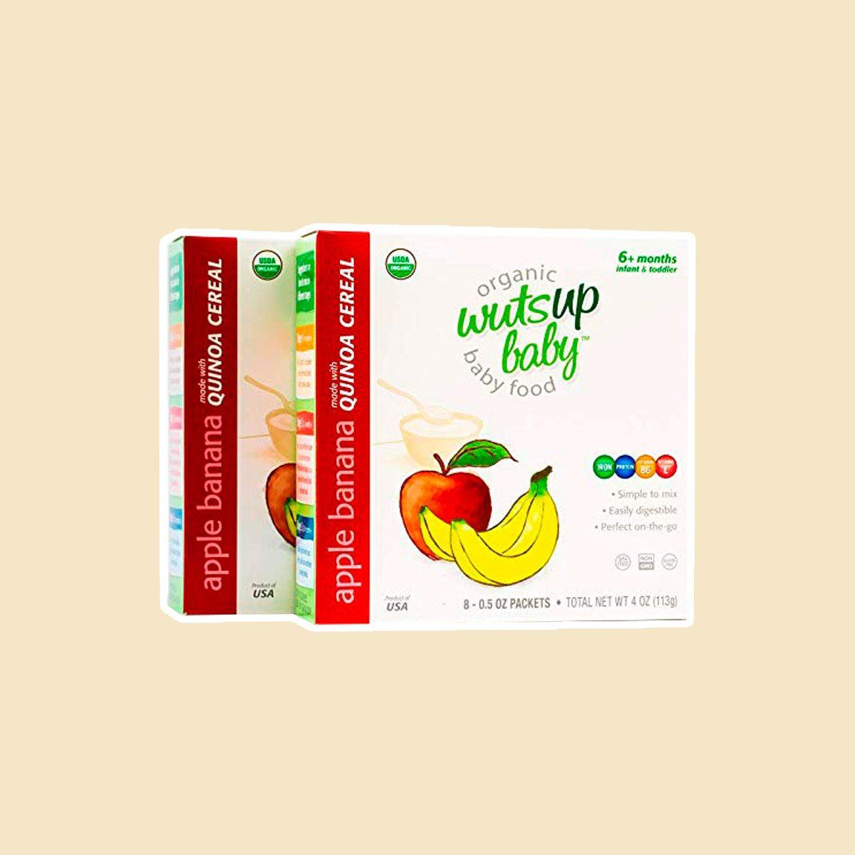 WutsupBaby Organic Apple Banana Quinoa Baby Cereal
