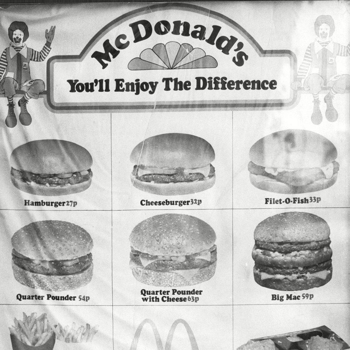 A 1977 Mcdonald's Restaurant Menu.