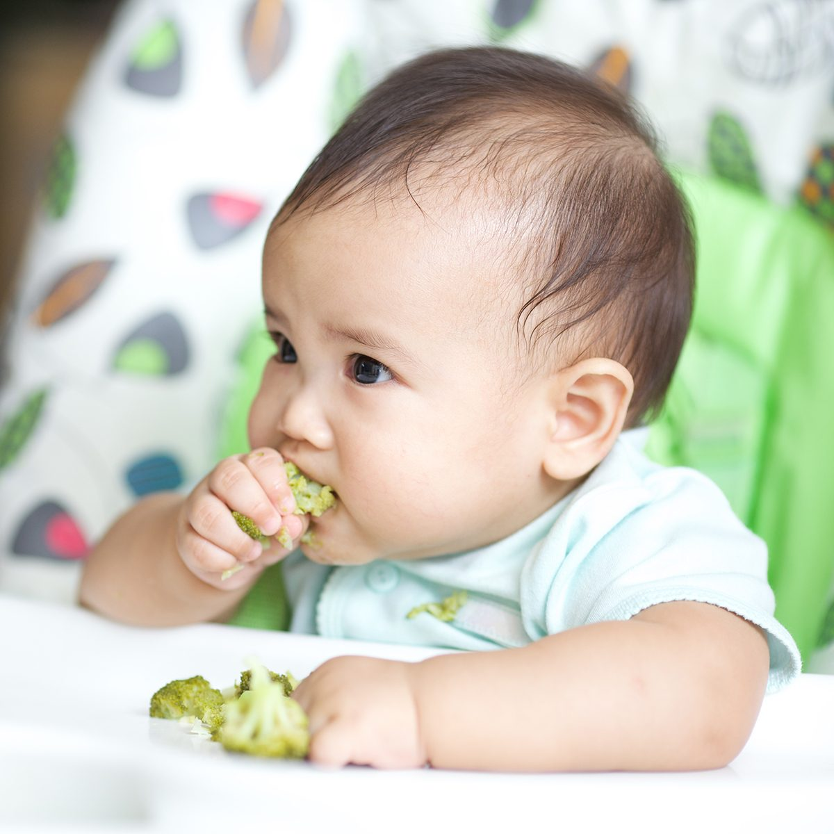 Baby Eating On Baby Chair