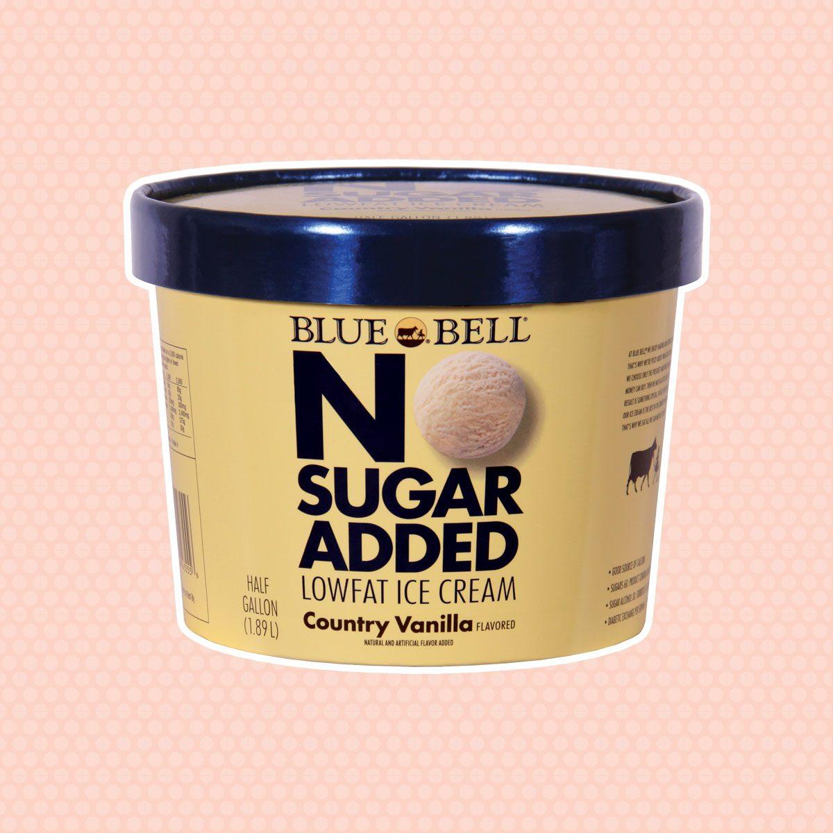 Blue Bell No Sugar Added, Country Vanilla Ice Cream, 64 OZ