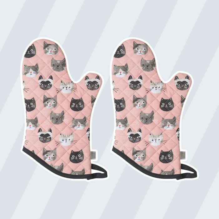 Cat oven mitts