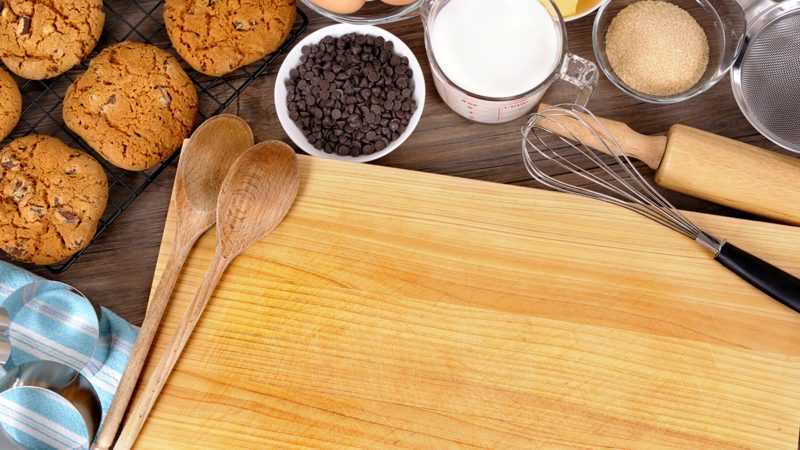 Cookie baking, ingredient, kitchen worktop