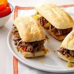 Pressure-Cooker Italian Beef Sandwiches