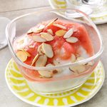Pressure-Cooker Rhubarb Compote with Yogurt