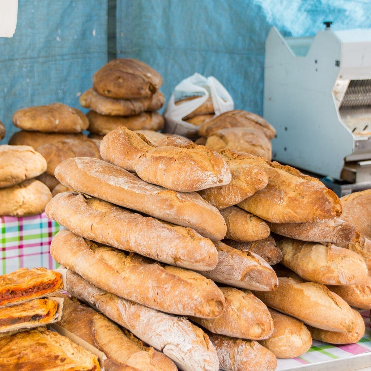 Fresh baked bread - Farmer's Market, Potes, Spain