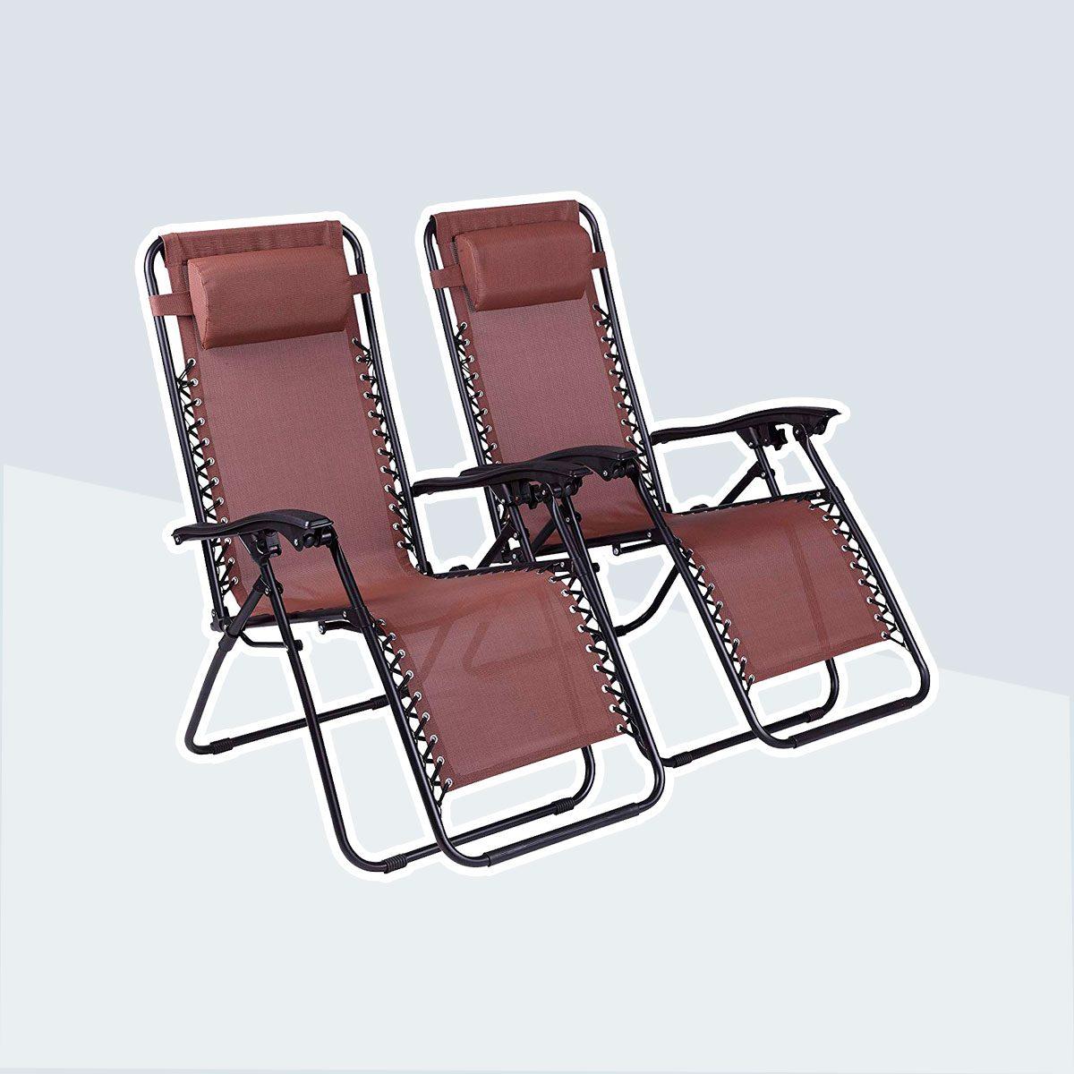 Naomi Home Zero-Gravity Patio Recliner Chairs
