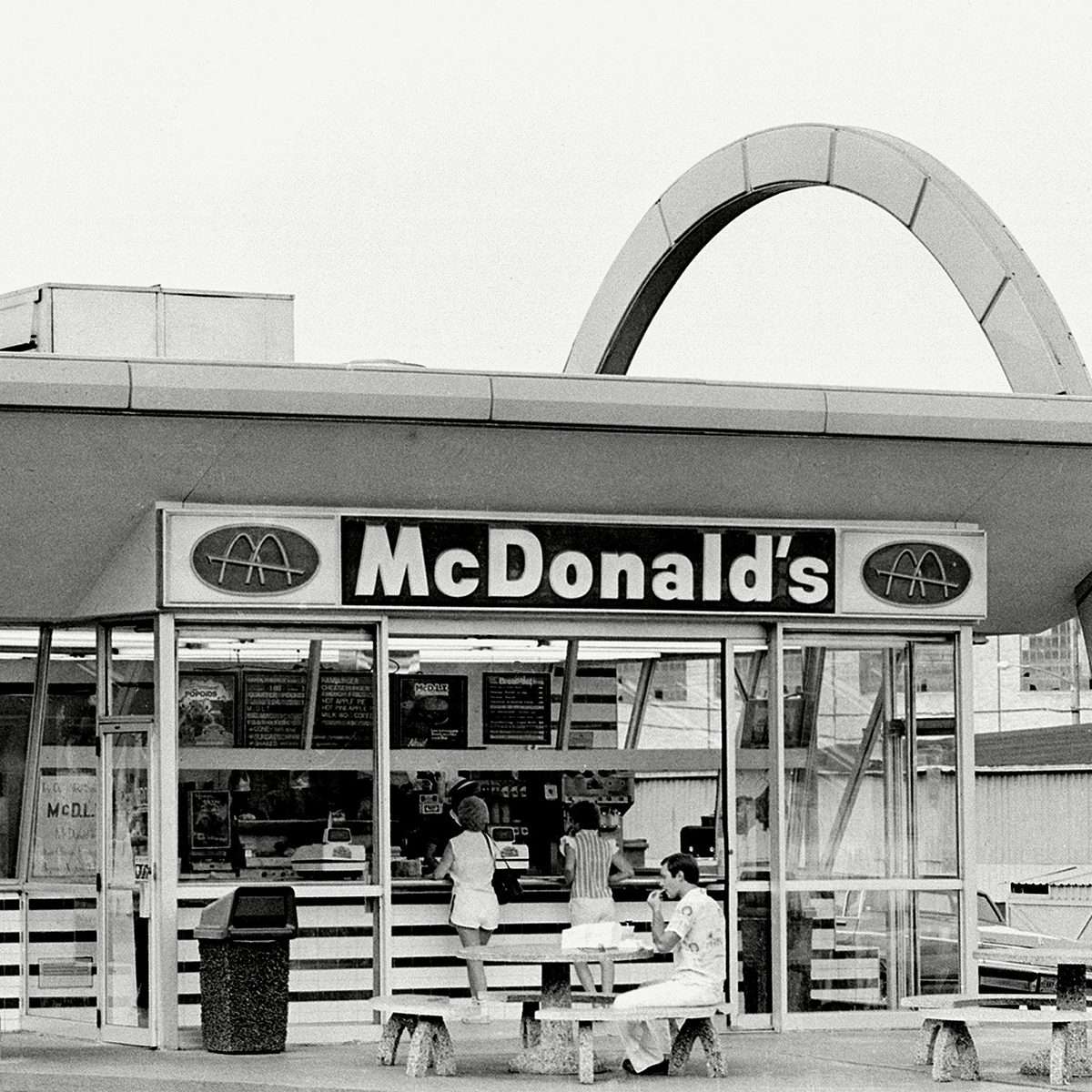 Old exterior of McDonald's