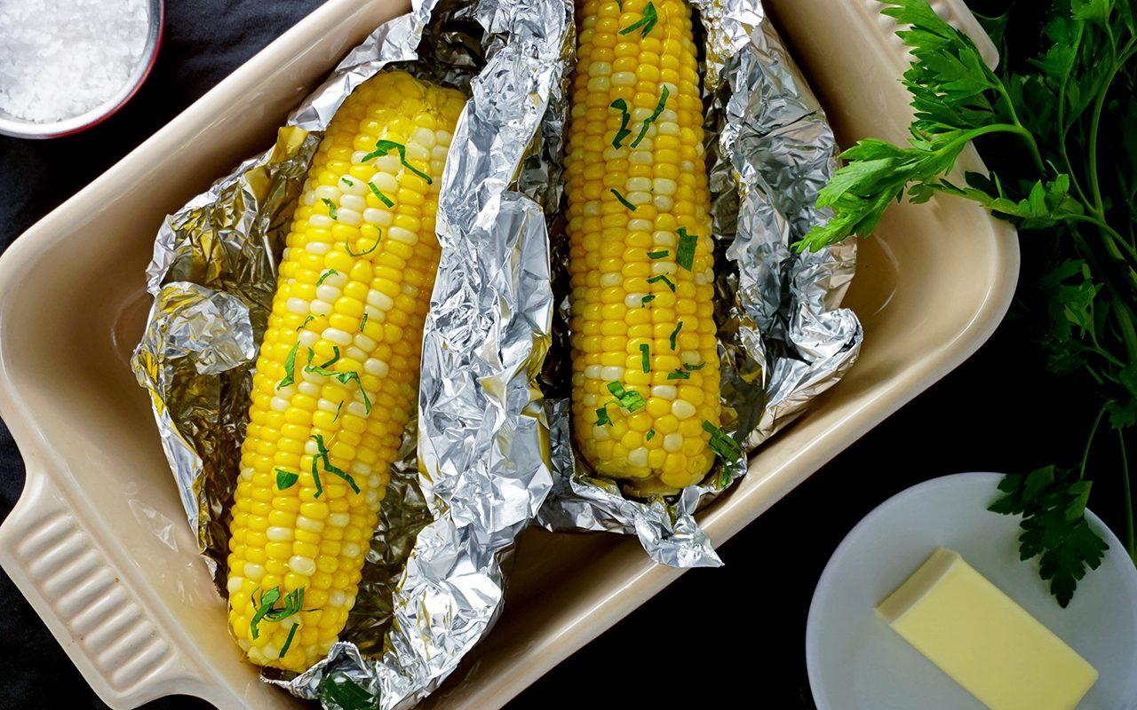 oven-roasted sweet corn