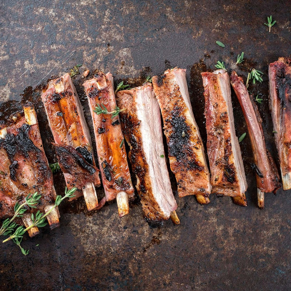 Well-done ribs