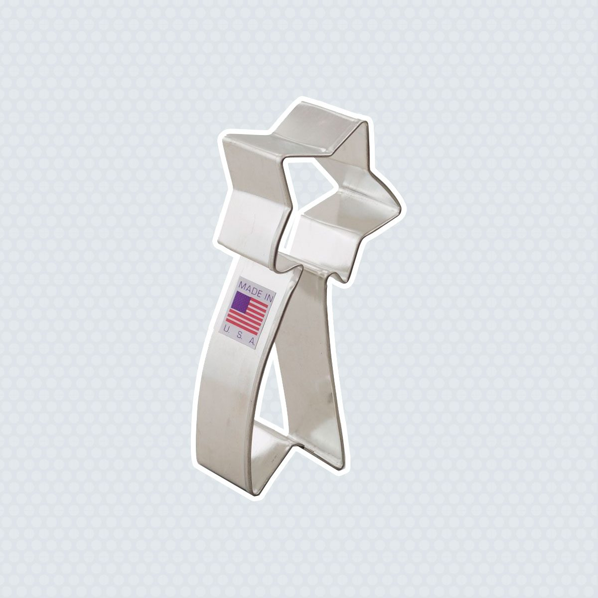 Ann Clark Falling Star Cookie Cutter - 4 Inches - Tin Plated Steel