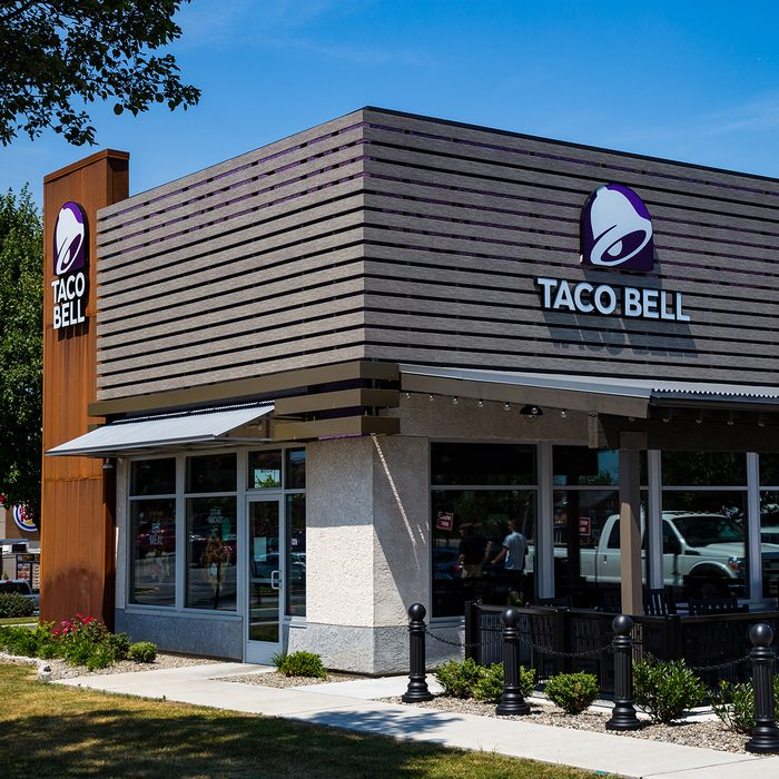 Willow Street, PA, USA - July 10, 2018: Taco Bell, a fast-food restaurant offering a Mexican inspired menu, serves has more than 5,800 locations.; Shutterstock ID 1170893317; Job (TFH, TOH, RD, BNB, CWM, CM): TOH
