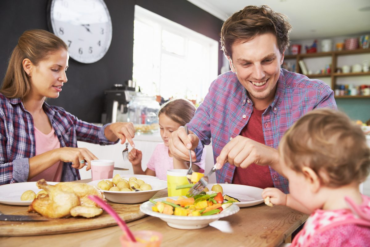 Toddler Meal Ideas - Family Eating Dinner at Table