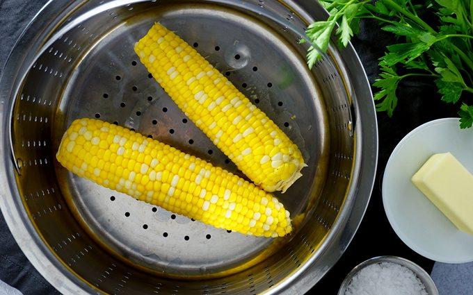 steamed sweet corn