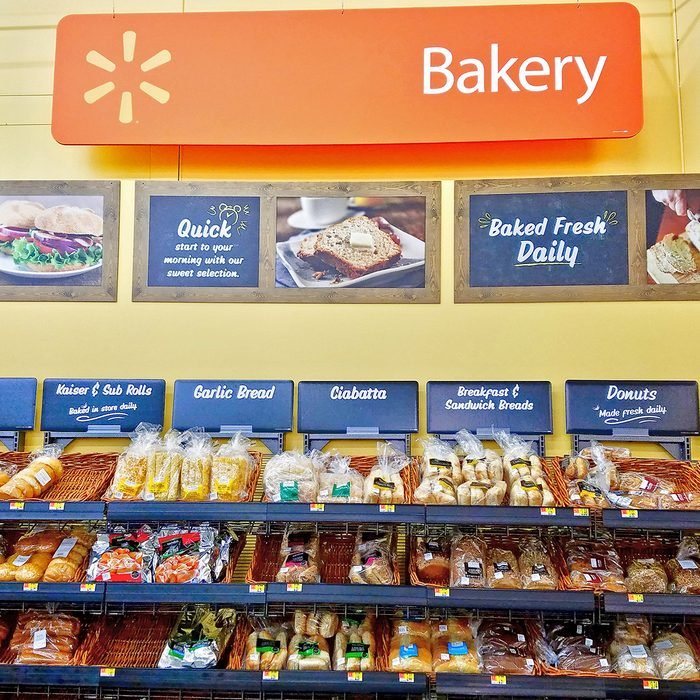 Walmart bakery fresh bread and donuts department, Saugus Massachusetts USA