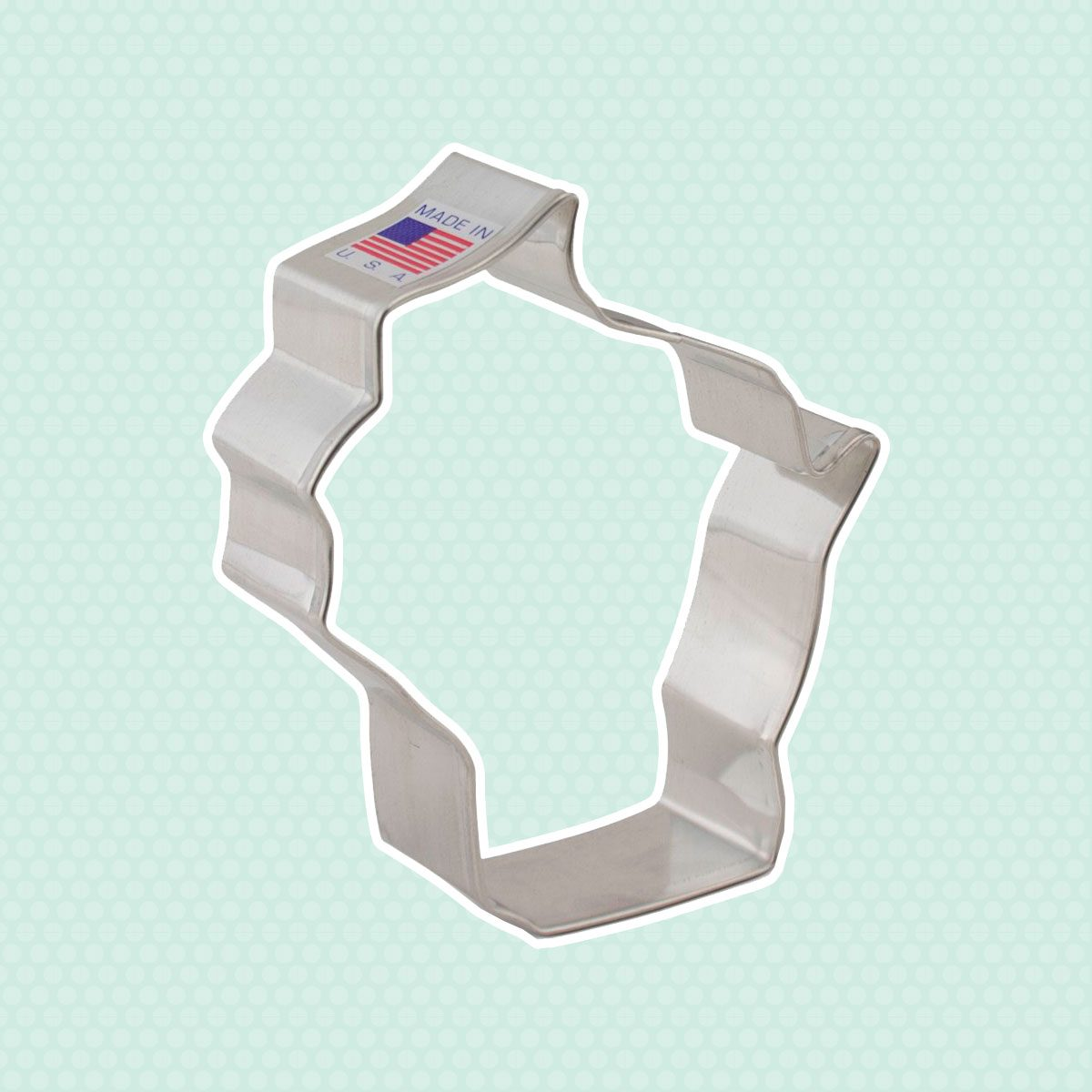 Ann Clark Wisconsin Cookie Cutter - 3.75 Inches - Tin Plated Steel