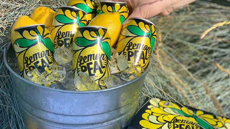 Lemon peal drinks in a bucket of ice