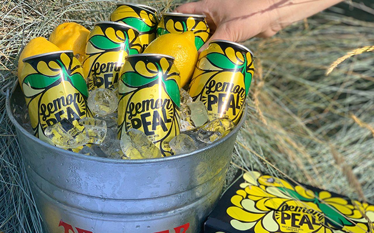 Lemon peal drinks in a bucket of ice