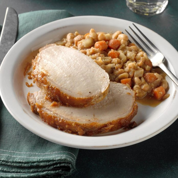 Day 26: Apple Butter Pork with White Beans