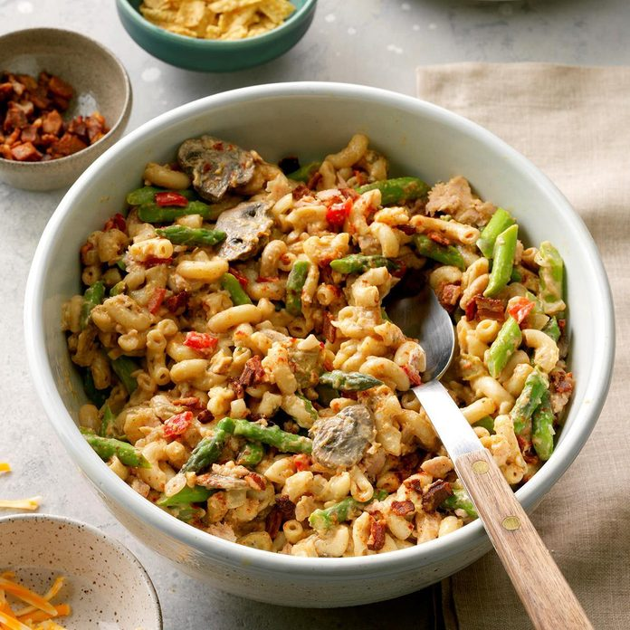 Day 1: Asparagus Tuna Noodle Casserole