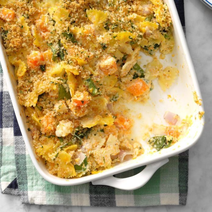 Butternut and Chard Pasta Bake
