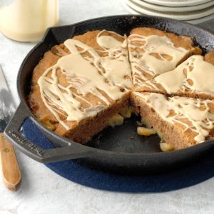 Cast Iron Nutmeg Coffee Apple Cake