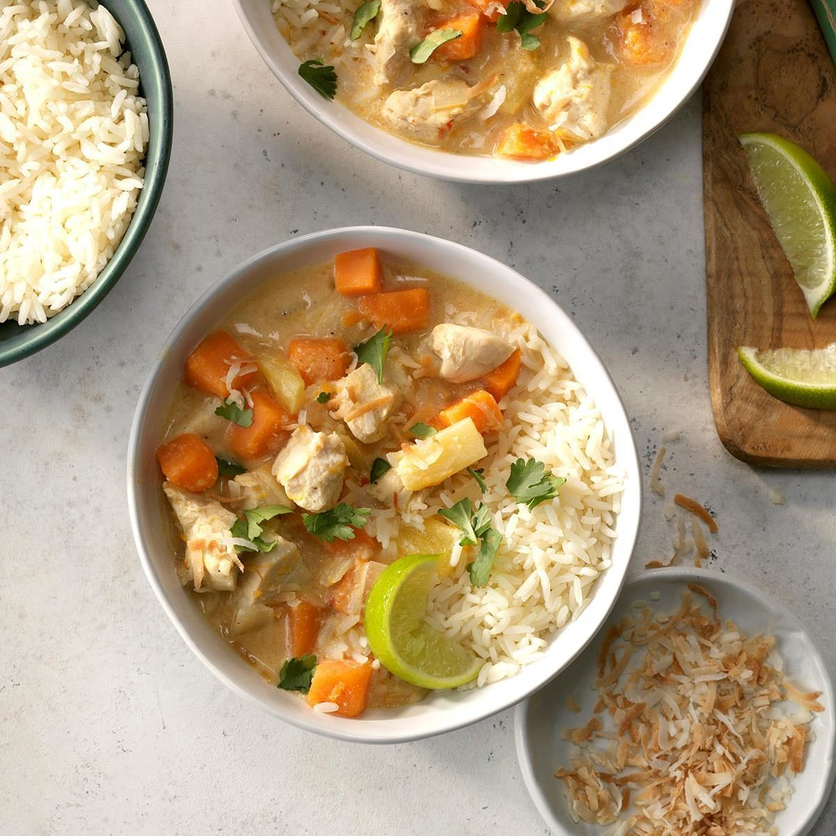 Coconut Chicken and Sweet Potato Stew