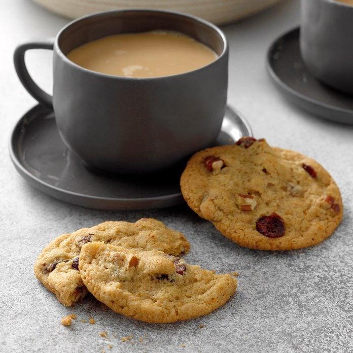 Crackled Cranberry Pecan Cookies