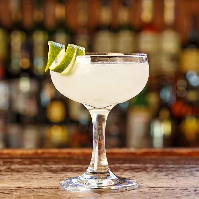 Traditional cocktail daiquiri