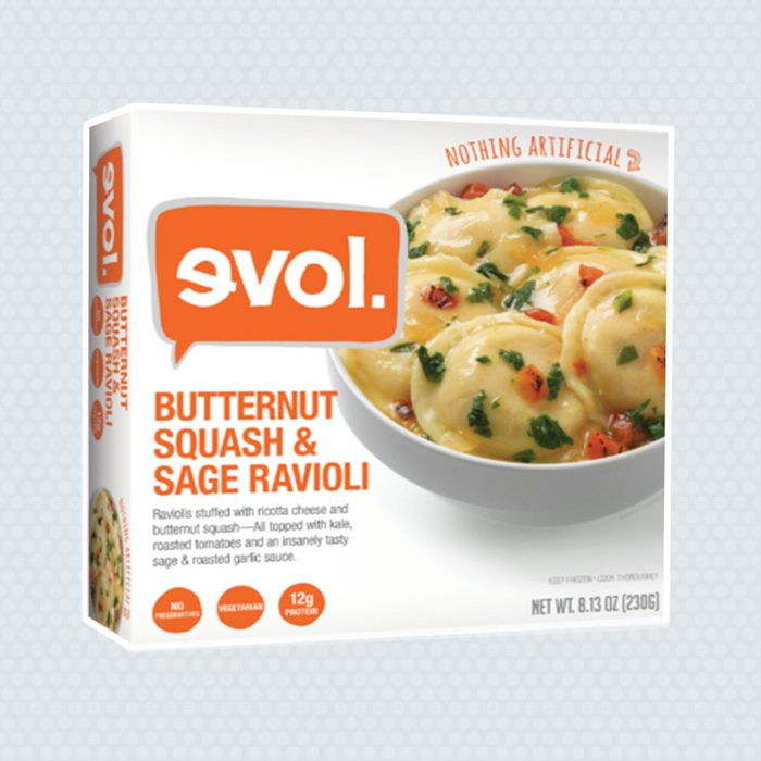 frozen meals, evol ravioli