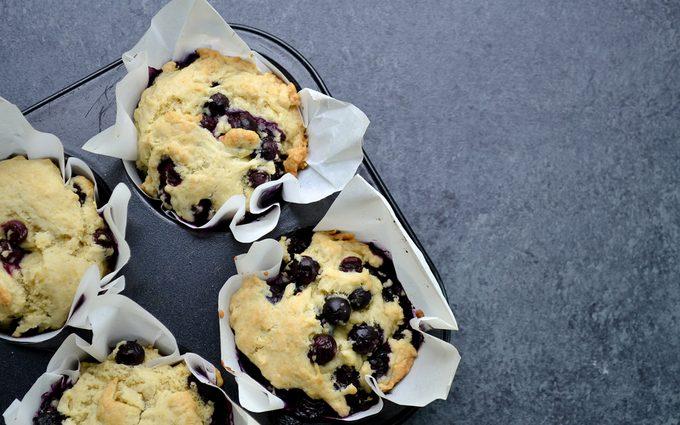 Vegan blueberry muffins