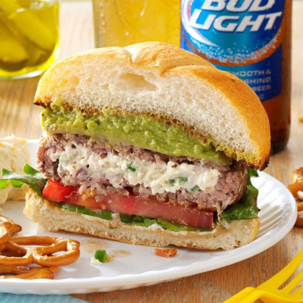 jalapeno popper burger, burger