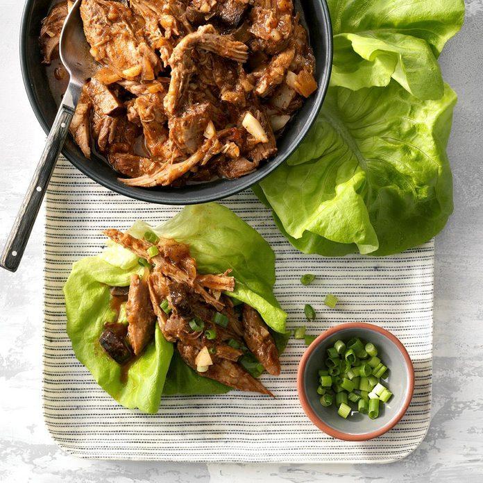 Luau Pork Lettuce Wraps