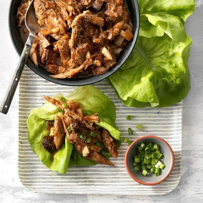 Day 2: Luau Pork Lettuce Wraps