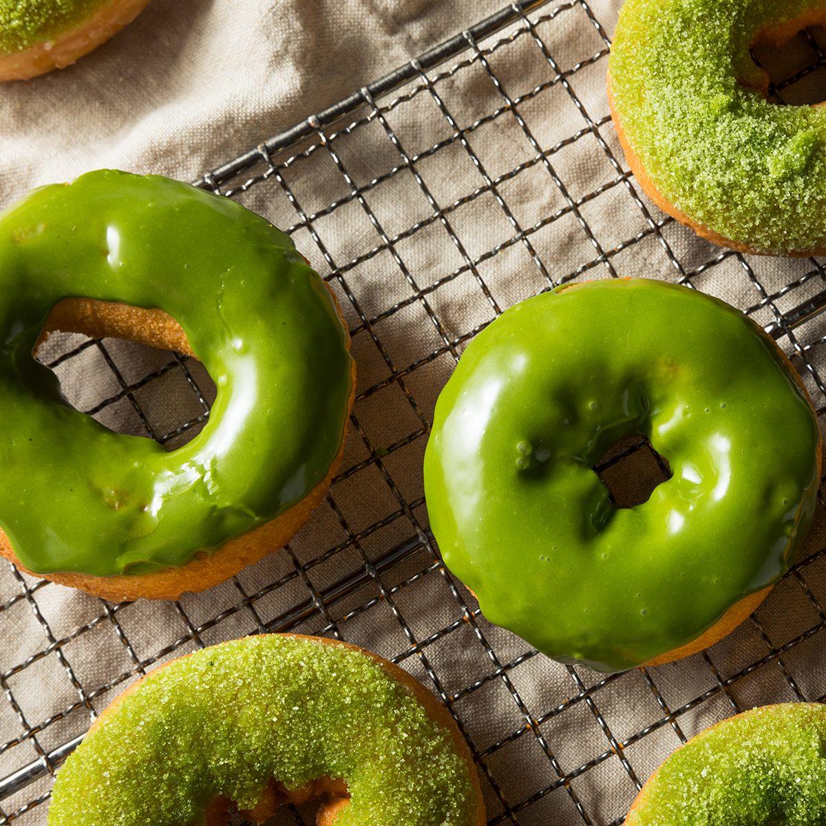 Homemade Green Tea Matcha Donuts Ready to Eat