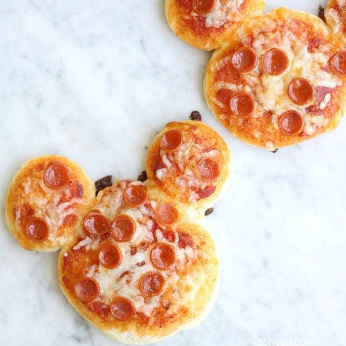 Mickey pizzas